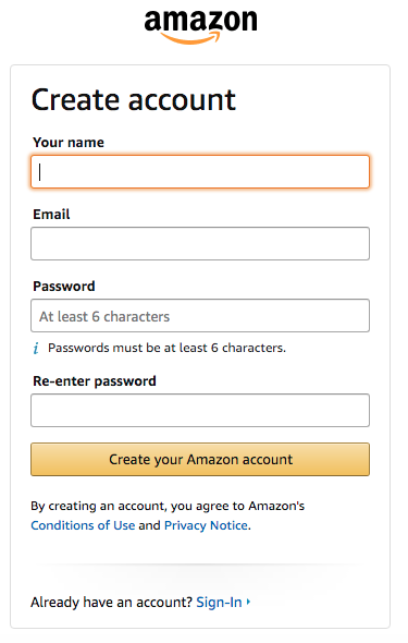 create-amazon-Account