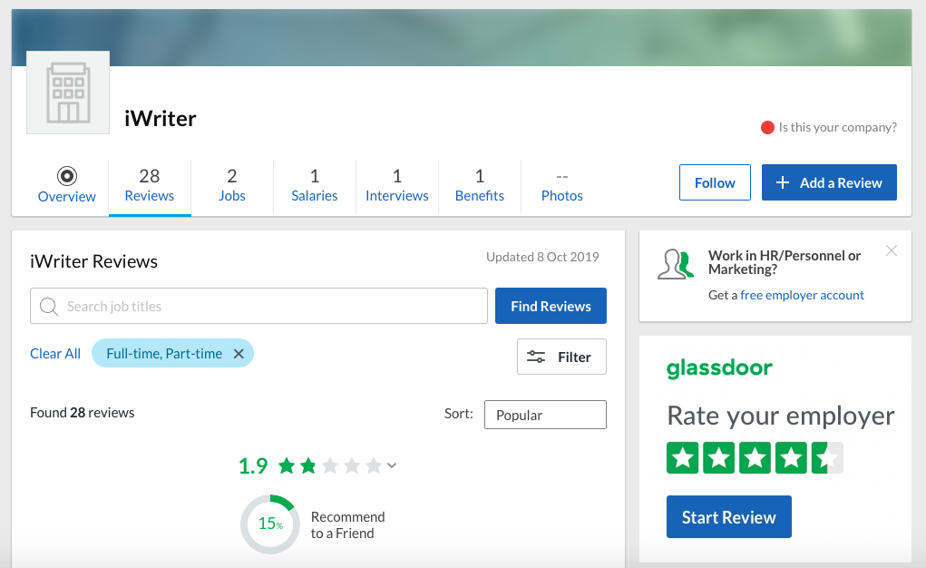 iwriter-glassdoor-review