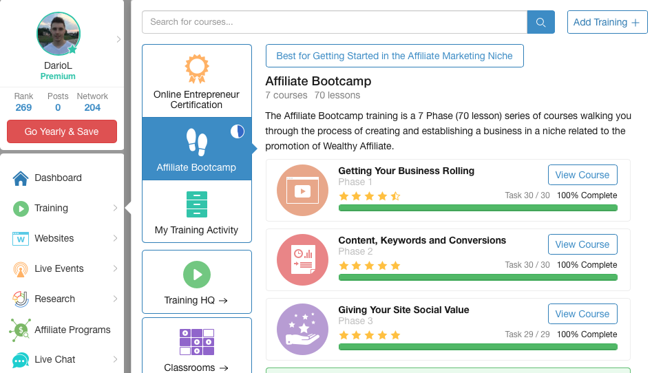 wealthy-affiliate-training-screenshot