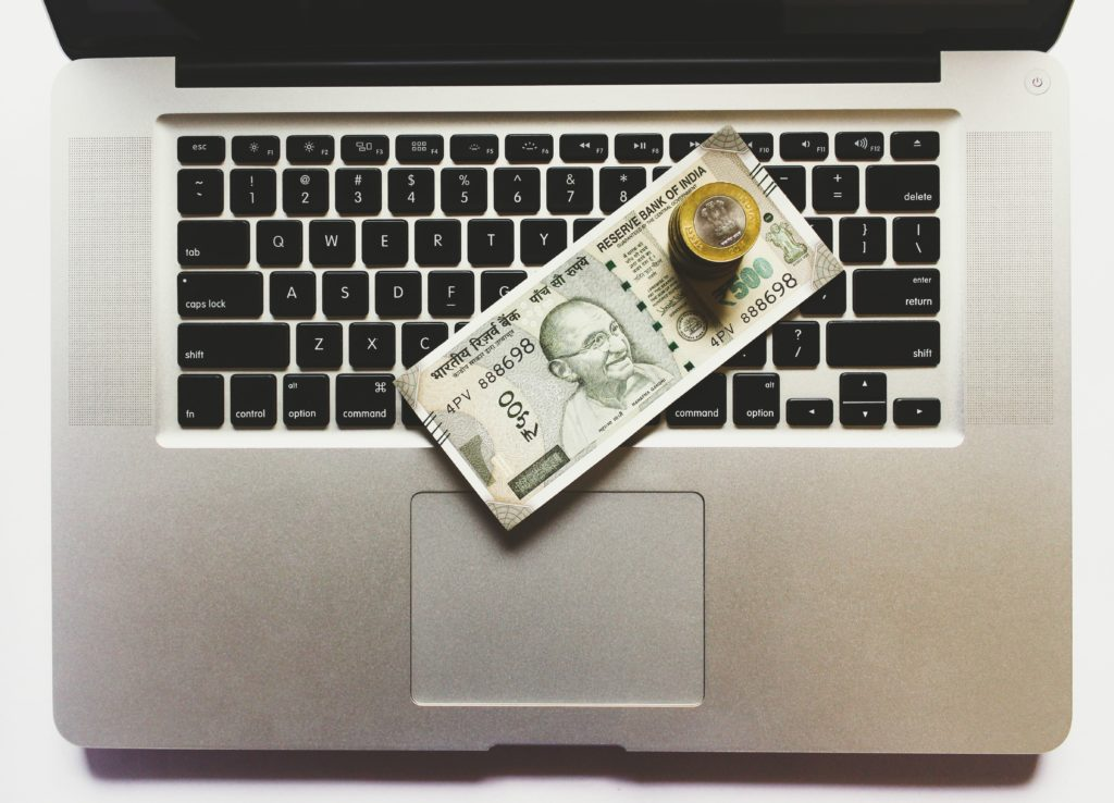 money-on-a-laptop
