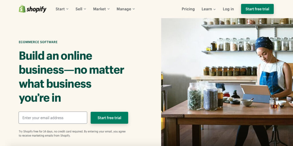shopify-front-page